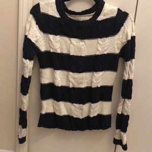 Old Navy, navy & white stitched crew neck sweater